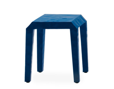 Mr. B Low Stool 4BL Polish Lacquer Blue (RAL 5012)