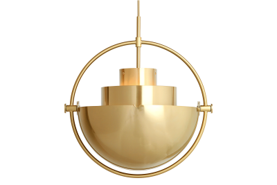 Multi-Lite Pendant Light Venetian Gold, Brass