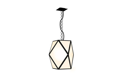 Muse Outdoor Pendant Light IP65 White Pearl, Large