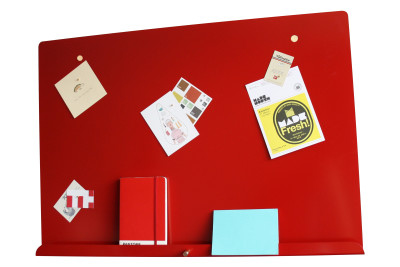 Myosotis Grande Notice Board LDF Red