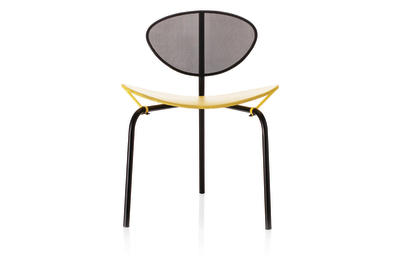Nagasaki Dining Chair Black and Yellow