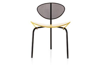 Nagasaki Dining Chair Black and Yellow
