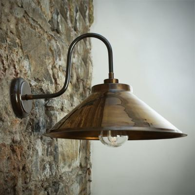Nerissa Swan Neck Wall Light Antique Brass