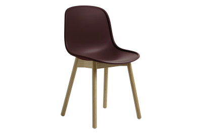 Neu13 Chair Cream white, Matt lacquered solid oak