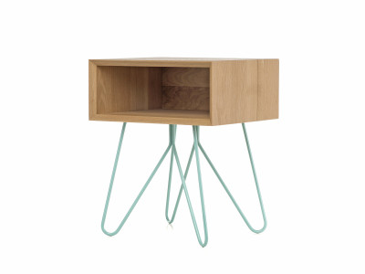 Nove side table  blue legs