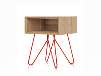 Nove side table  red legs