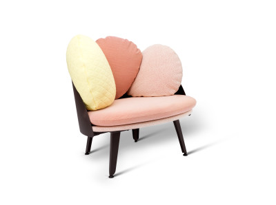 Nubilo Armchair Red, Coral, White, Yellow