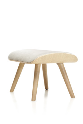 Nut Footstool Manga Grey, White Washed