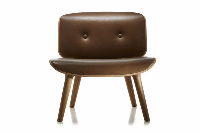 Nut Lounge Chair Cervino Leather Anthracite, Moooi Black Stained