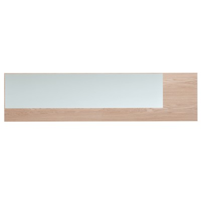 Offset Mirror Long Clear Mirror, Oak
