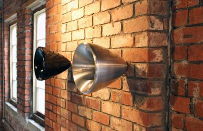 Om Vessel  Brushed Metal, Large