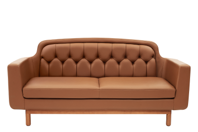 Onkel 2 Seater Sofa Cognac Leather