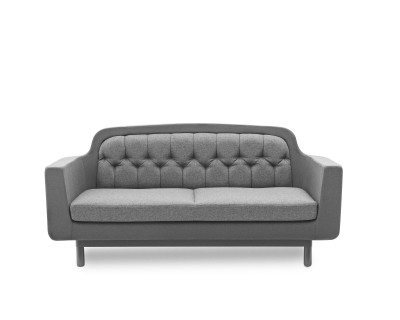 Onkel 2 Seater Sofa Black Leather
