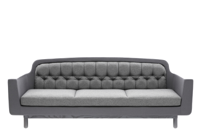 Onkel 3 Seater Sofa Black Leather