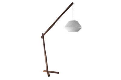 Oops Floor Lamp Body in canaletto walnut wood