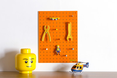 Orange Pegboard Small