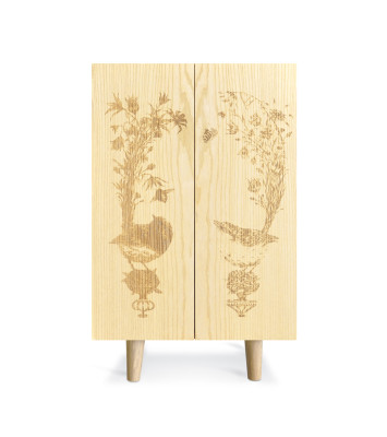 Ornithological Sketch Cabinet Ash Ornithological Sketch Cabinet