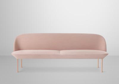 Oslo Sofa - 3 Seater Skai Parotega NF white