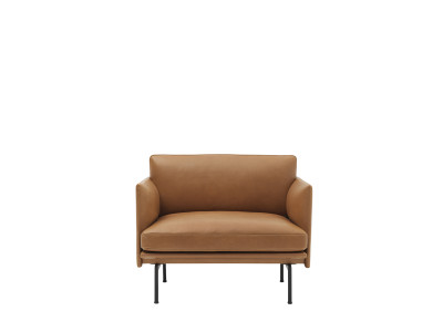 Outline Chair B0304 - Elmosoft 13060 grey/brown