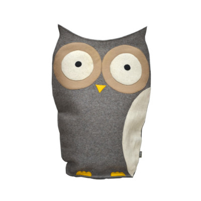Owl Cushion Grey