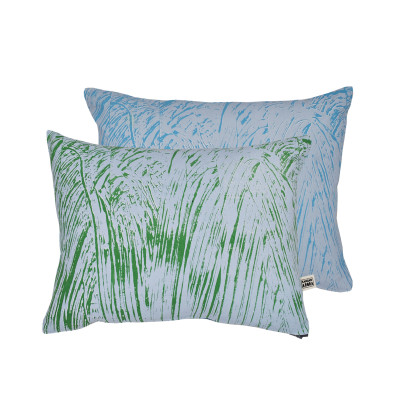 Painter Cushion Green and Turquoise
