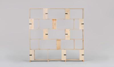 Pakiet Shelve Set - L Spruce Plywood, Galvanized Steel Clips