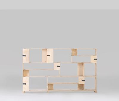 Pakiet Shelve Set - M Spruce Plywood, Galvanized Steel Clips