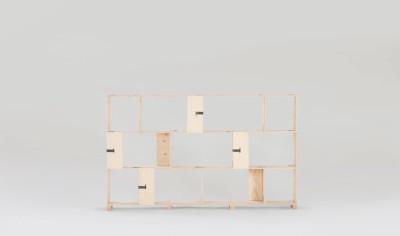 Pakiet Shelve Set - S Spruce Plywood, Galvanized Steel Clips