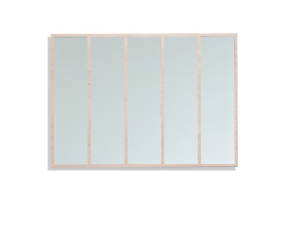 Panels Mirror Clear Mirror, Oak