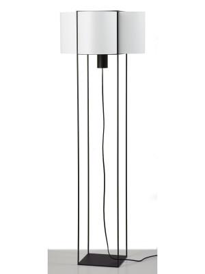 Paradice Floor Lamp White with Black Iron
