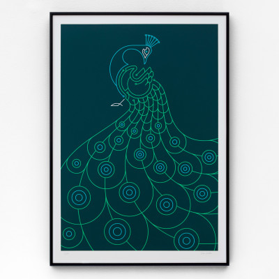 Peacock A2 Limited edition screen print