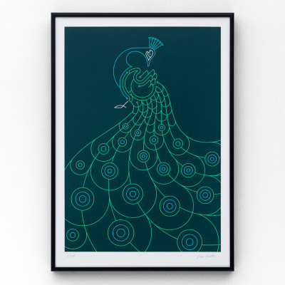 Peacock A3 Limited edition screen print