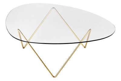 Pedrera Coffee Table Brass Frame