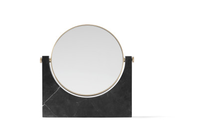 Pepe Marble Mirror Brass/Black