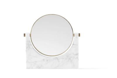 Pepe Marble Mirror Brass/White