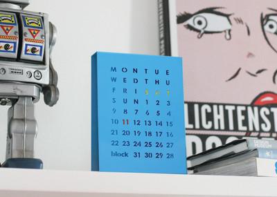 Perpetual Calendar Blue