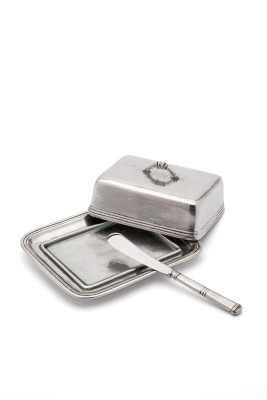 Pewter Butter Dish with Lid
