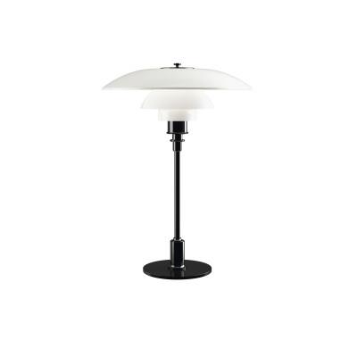 PH 3½-2½ Glass Table Light UK Plug, Black Metallised