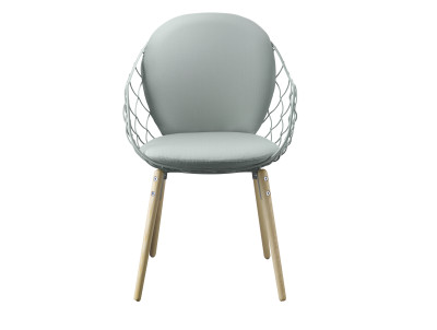 Piña Armchair Steelcut 2 550 Fabric with Natural Base