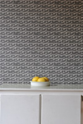 Pigeon Coop Wallpaper Charcoal