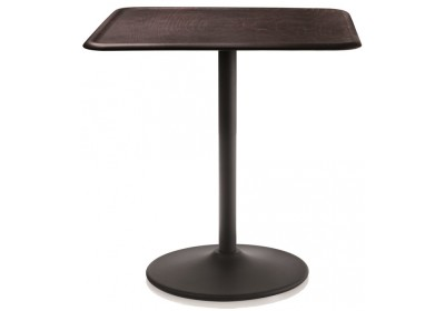 Pipe Table - Square Black, Dark Beech