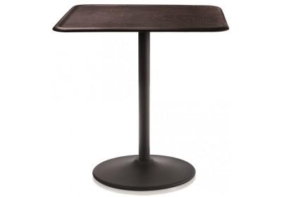 Pipe Table - Square Black, Dark Beech
