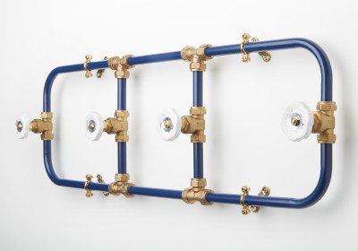 Coat Rack (Navy/White)