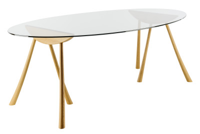 Pollyfox Trestle Oval Dining Table Oak