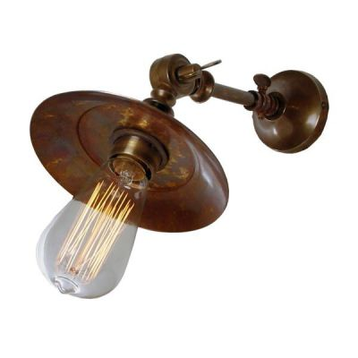 Porter Industrial Wall Light Antique Brass