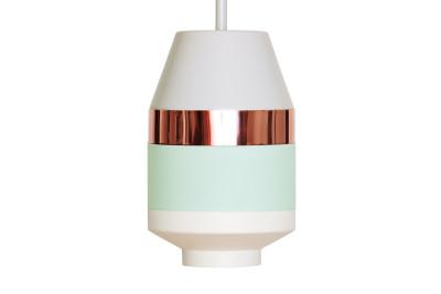 Pran Pandant Light 334-A Light Grey, Copper, Mint & White