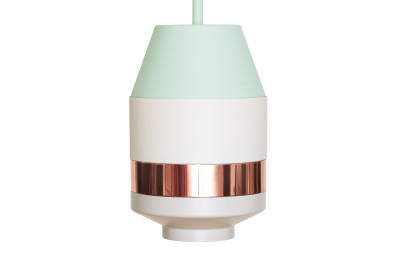 Pran Pandant Light 334-A Mint, White & Copper