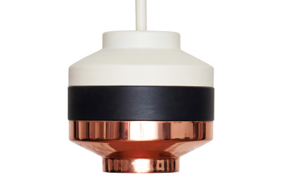Pran Pendant Light 238 White, Black & Copper