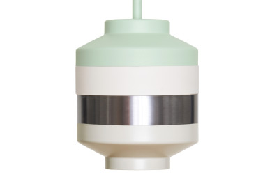 Pran Pendant Light 276 Mint, White & Silver
