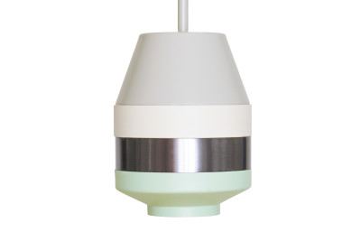 Pran Pendant Light 296 Grey, White, Silver & Copper